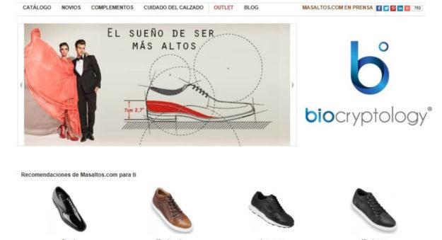 Masaltos.com, pionera en la implantación del ecommerce con reconocimiento de datos biométricos